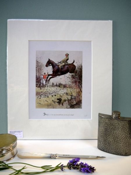The Officer on Horseback - 1980's print by Snaffles